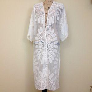 NWT! White Rebellion Long Kimono Wrap